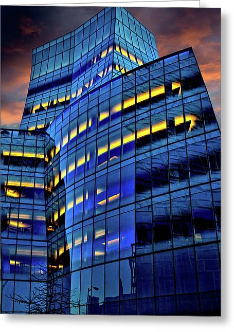 Chelsea Digital Art Greeting Cards - Frank Gehrys IAC Building Greeting Card by Chris Lord