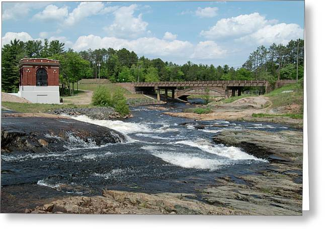 Hydroelectric Greeting Cards - Frank J Russel falls 1 Greeting Card by Michael Peychich