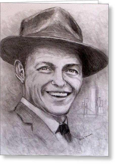Recently Sold -  - Jack Skinner Drawings Greeting Cards - Frank Greeting Card by Jack Skinner