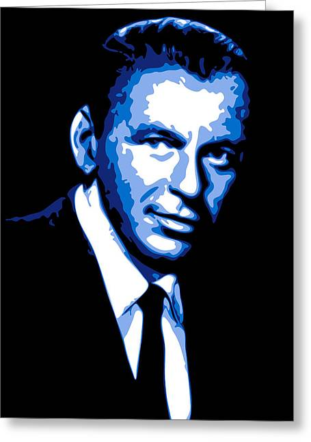 Rat Pack Greeting Cards - Frank Sinatra Greeting Card by DB Artist