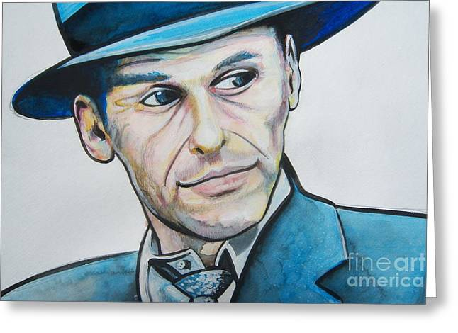 Frank Sinatra Greeting Card by Ken Huber