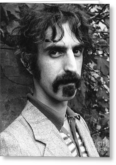 Rock And Roll Photographs Greeting Cards - Frank Zappa 1970 Greeting Card by Chris Walter
