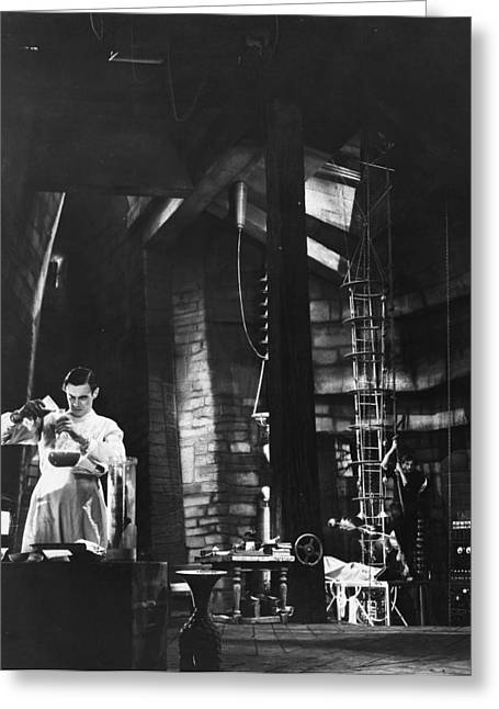 Best Sellers -  - Dungeons Greeting Cards - Frankenstein, 1931 Greeting Card by Granger
