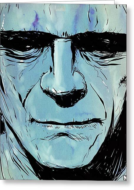 Horror Greeting Cards - Frankenstein Greeting Card by Giuseppe Cristiano