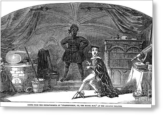 Mary Shelley Greeting Cards - Frankenstein Greeting Card by Granger