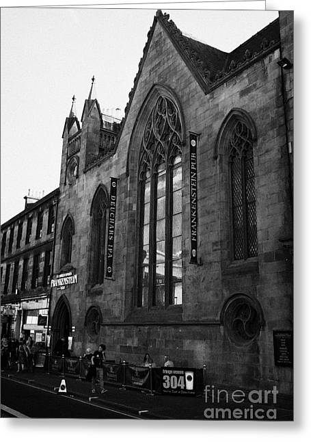 Reform Greeting Cards - Frankenstein Pub Formerly A Martyrs Free Church Then Reformed Presbyterian Congretation Edinburgh S Greeting Card by Joe Fox