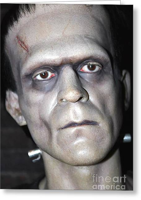 Statue Portrait Photographs Greeting Cards - Frankensteins Monster Greeting Card by Sophie Vigneault