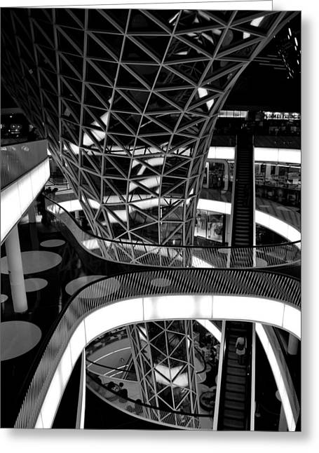 Architecture Glass Art Greeting Cards - Frankfurt Germany Greeting Card by Meike Solomon