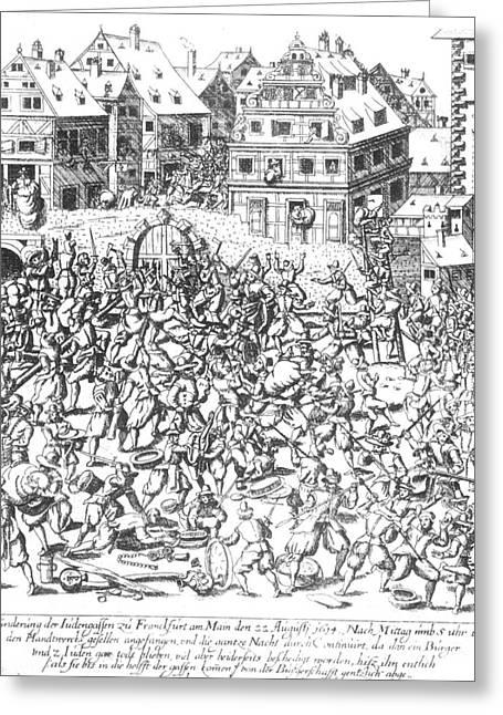 Plunder Greeting Cards - Frankfurt Jews, 1614 Greeting Card by Granger
