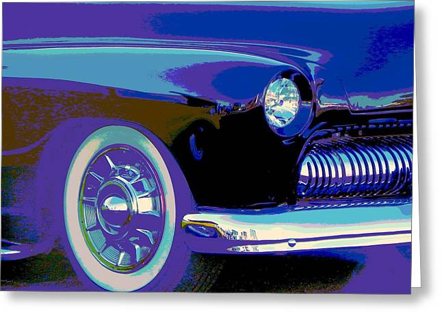 50 Merc Greeting Cards - Frankies Black Beauty Greeting Card by Chuck Re