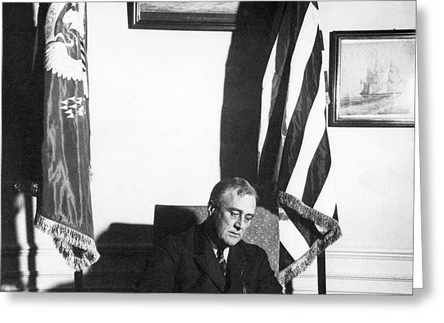 Franklin D. Roosevelt, 32nd American Greeting Card by Omikron