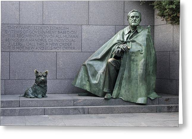 Franklin Roosevelt Greeting Cards - Franklin Delano Roosevelt Memorial - Washington DC Greeting Card by Brendan Reals