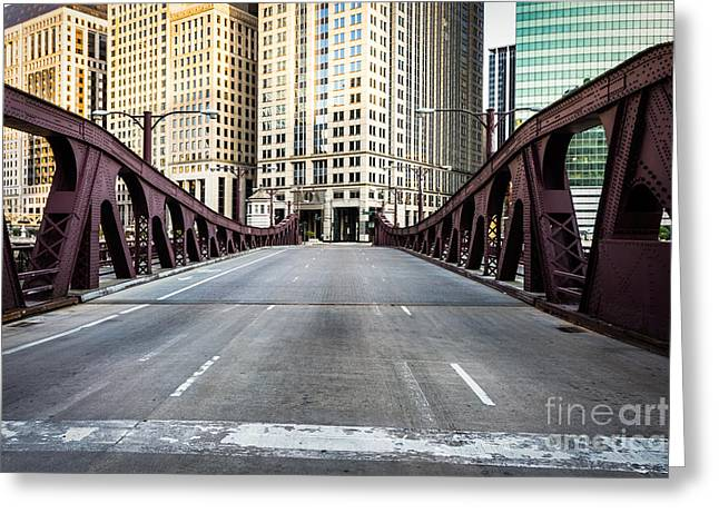 Franklin Greeting Cards - Franklin Orleans Street Bridge Chicago Loop Greeting Card by Paul Velgos