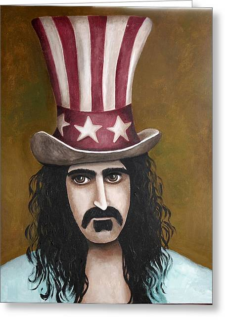 Mustache Paintings Greeting Cards - Franks Hat Greeting Card by Leah Saulnier The Painting Maniac
