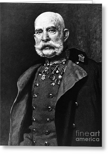 Important Greeting Cards - Franz Joseph I, Emperor Of Austria Greeting Card by Omikron