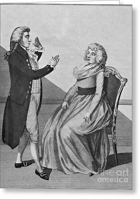 Animate Object Greeting Cards - Franz Mesmer, German Physician Greeting Card by Photo Researchers