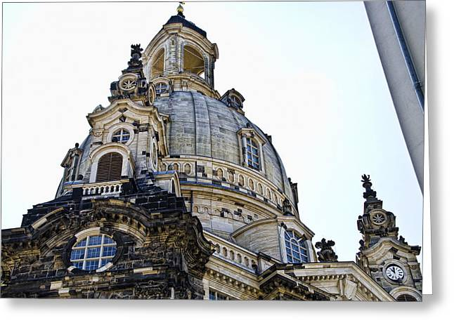 Frauenkirche Greeting Cards - Frauenkirche - Dresden Germany Greeting Card by Jon Berghoff