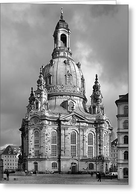Historical Buildings Greeting Cards - Frauenkirche Dresden - Church of Our Lady Greeting Card by Christine Till