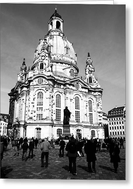 Frauenkirche Greeting Cards - Frauenkirche Greeting Card by Falko Follert