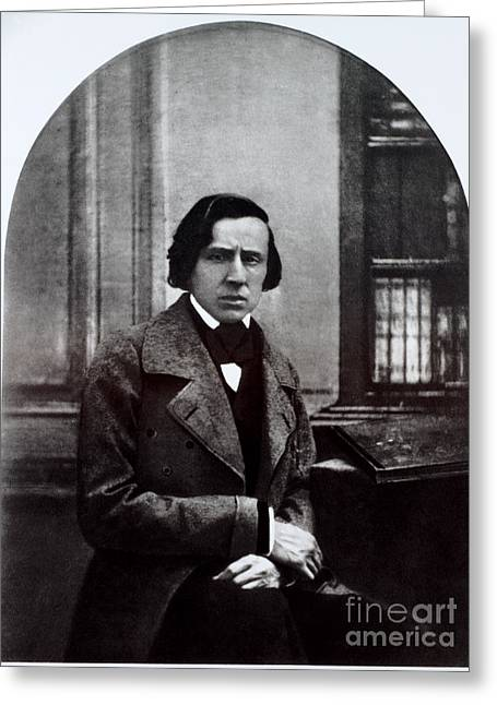 Francois Greeting Cards - Frédéric Chopin, Polish Composer Greeting Card by Photo Researchers, Inc.