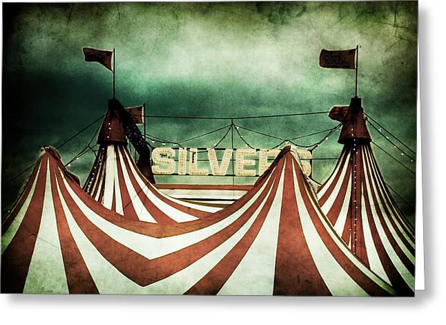 Dark Clouds. Greeting Cards - Freak Show Greeting Card by Andrew Paranavitana