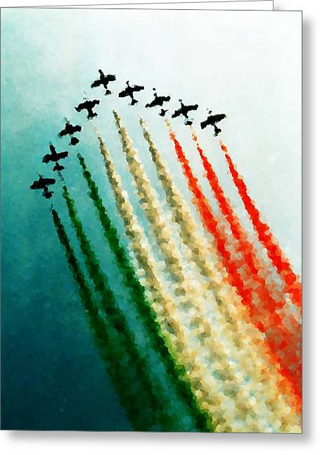 Fx Greeting Cards - Frecce Tricolori Greeting Card by Andrea Barbieri