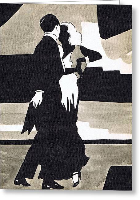 Dancing Girl Greeting Cards - Fred and Ginger Greeting Card by Mel Thompson
