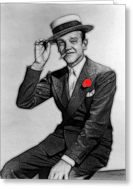 Choreographer Greeting Cards - Fred Astaire Greeting Card by Maciej Froncisz
