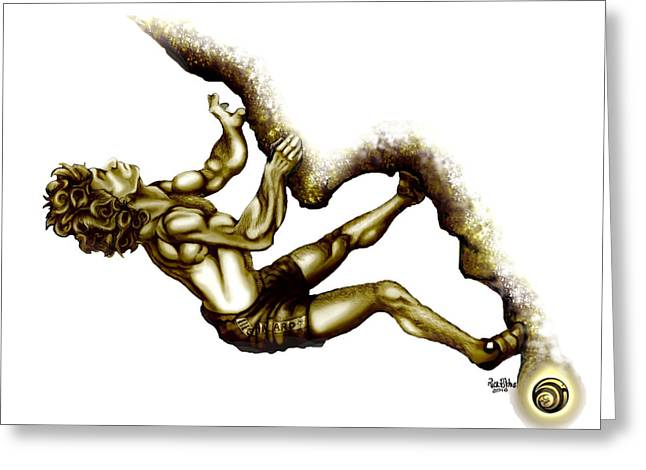 Overhang Mixed Media Greeting Cards - Fred Bronzed Greeting Card by Rick Ritchie