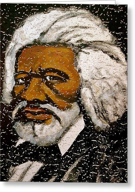 Human Rights Leader Greeting Cards - Frederick Douglas Greeting Card by Pete Maier