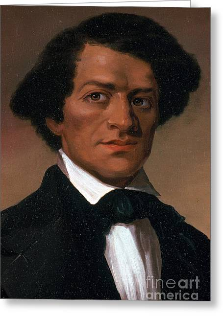 Abolition Photographs Greeting Cards - Frederick Douglass, African-american Greeting Card by Photo Researchers