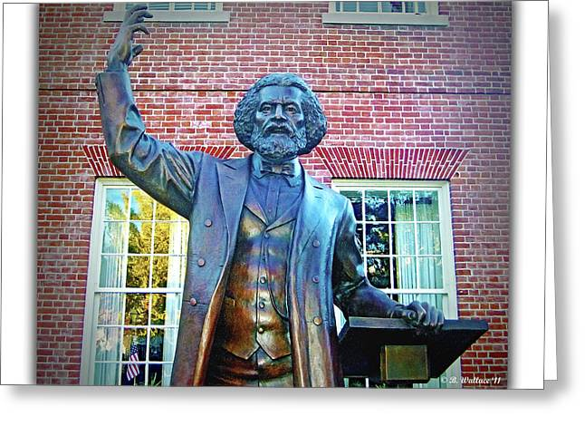 Anti-slavery Greeting Cards - Frederick Douglass Greeting Card by Brian Wallace