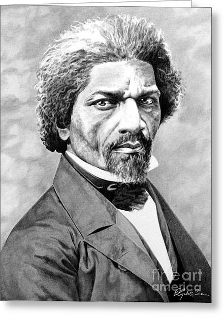 Frederick Douglass Drawings Greeting Cards - Frederick Douglass Greeting Card by Elizabeth Scism