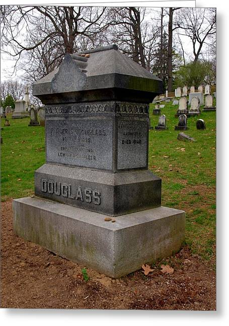Abolition Photographs Greeting Cards - Frederick Douglass Grave Two Greeting Card by Joshua House
