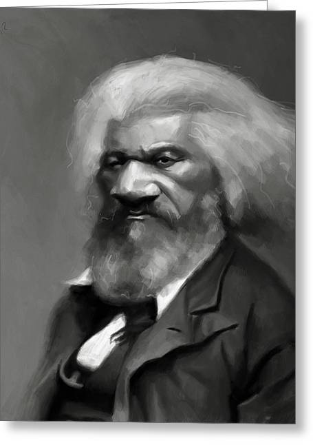 Douglass Digital Greeting Cards - Frederick Douglass Greeting Card by Jumaane Sorrells-Adewale