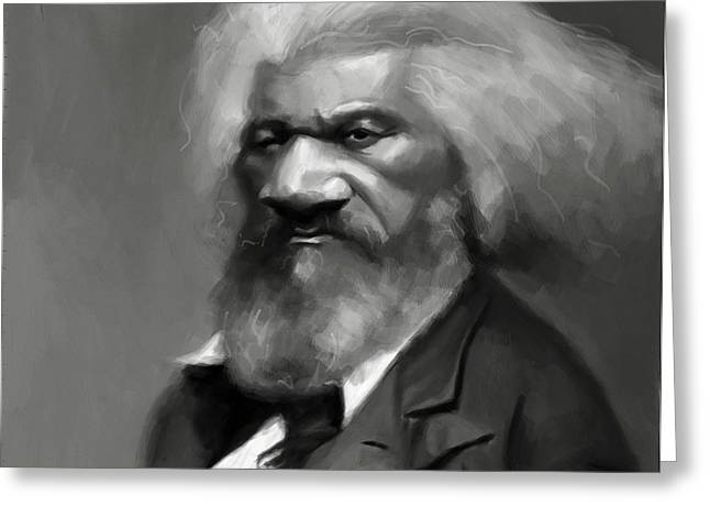 Frederick Douglass Greeting Card by Jumaane Sorrells-Adewale