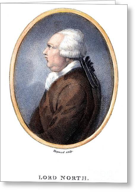 Statesman Greeting Cards - Frederick North (1732-1792) Greeting Card by Granger