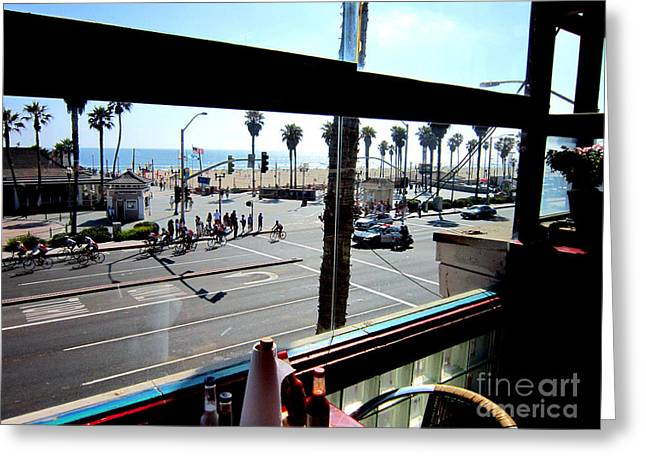 Coast Hwy Ca Greeting Cards - Freds Huntington Beach Greeting Card by RJ Aguilar
