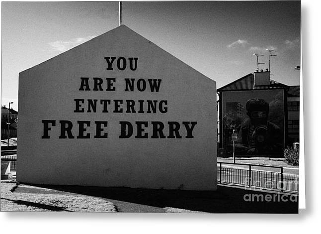 Nationalists Greeting Cards - Free Derry Corner Northern Ireland Greeting Card by Joe Fox
