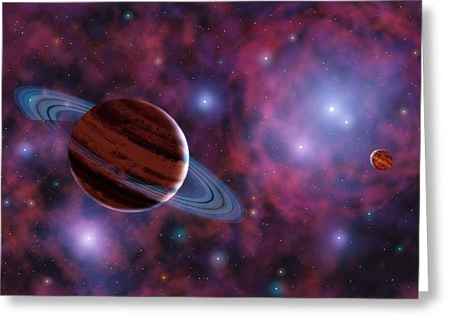 Alien Worlds Greeting Cards - Free-floating Planets Greeting Card by Chris Butler