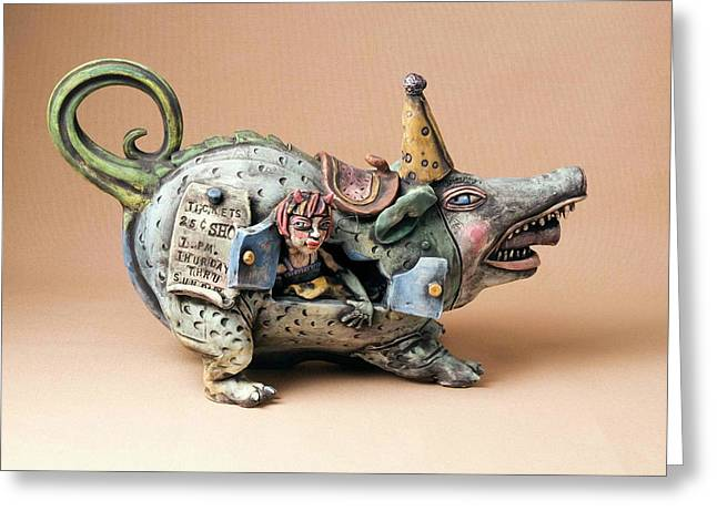 Pottery Ceramics Greeting Cards - Free ride Greeting Card by Kathleen Raven
