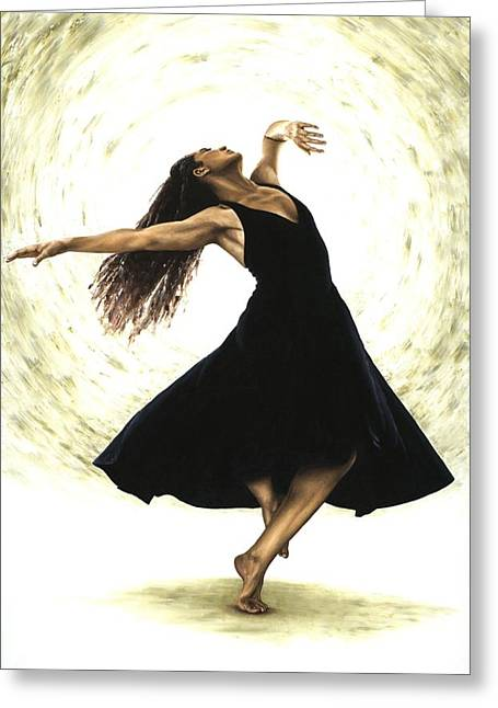Ballet Dancers Paintings Greeting Cards - Free Spirit Greeting Card by Richard Young