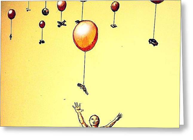 Free Will Greeting Card by Paulo Zerbato