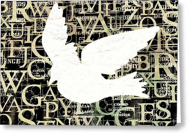 Ideologies Greeting Cards - Free Your Mind Ivory Greeting Card by Angelina Vick