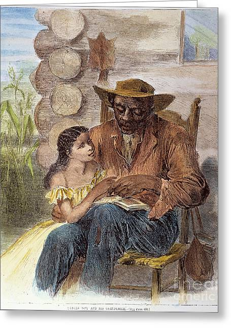 Lessons Greeting Cards - Freedman Reading, 1866 Greeting Card by Granger