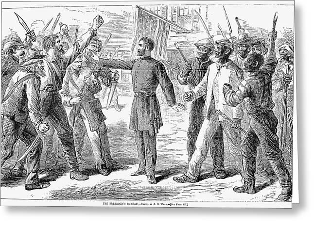 Freedman Greeting Cards - Freedmens Bureau, 1868 Greeting Card by Granger