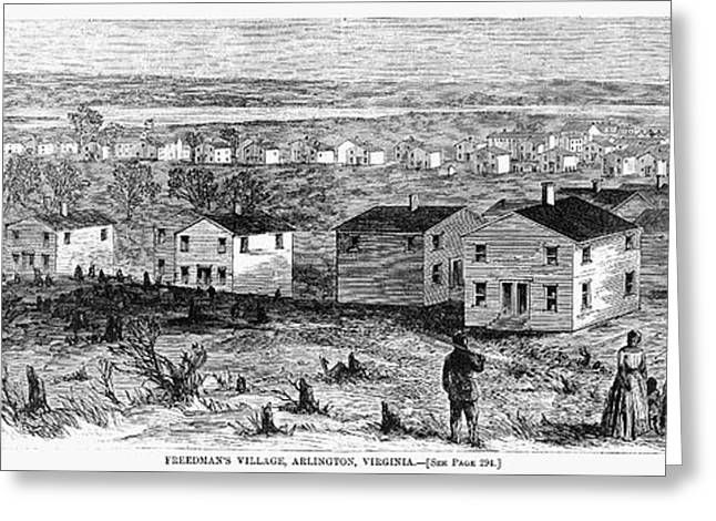 African-american Greeting Cards - Freedmens Village, 1864 Greeting Card by Granger