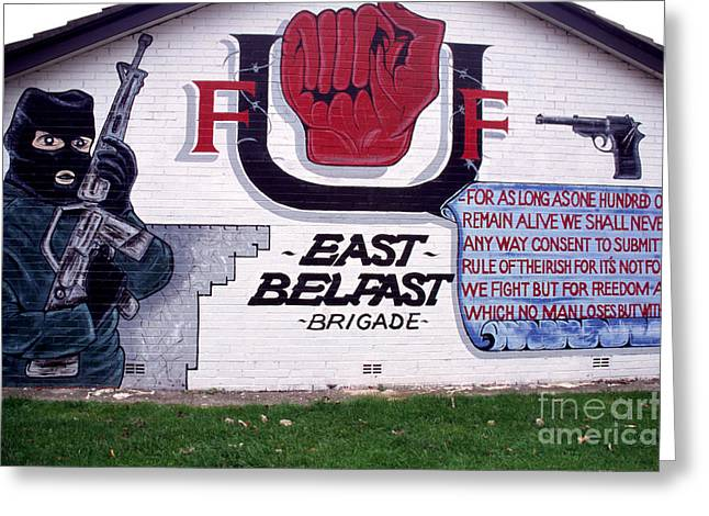 Loyalist Greeting Cards - Freedom Corner Mural Belfast Greeting Card by Thomas R Fletcher
