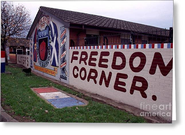 Freedom Corner Mural Greeting Card by Thomas R Fletcher