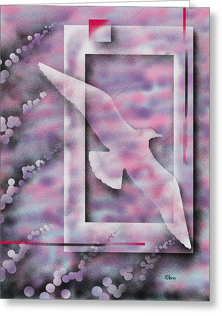 Soaring Paintings Greeting Cards - Freedom Greeting Card by Hakon Soreide